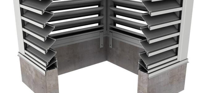 BCDE439 – 39° Blade Box Corner Penthouse Drainable Louver