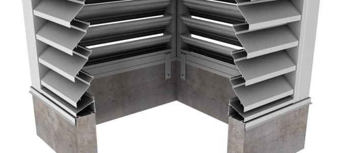 BCJE443 – 43° J-Blade Box Corner Penthouse Drainable Louver