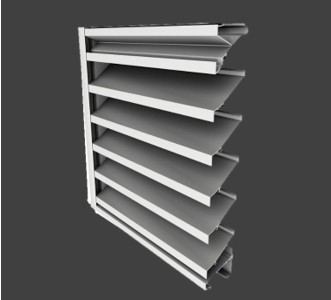 ZE445 – 4″ Deep, 45° Fixed Blade Extruded Non-Drainable Louver