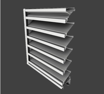 DE439 – 4″ Deep, 39° Blade Extruded Drainable Louver