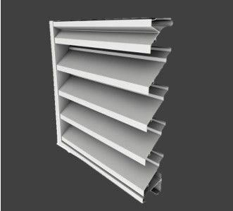 JE443 – 4″ Deep, 43° J-Blade Extruded Stationary Louver